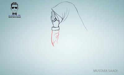 كيفية رسم فتاة محجبة بالصور خطوة بخطوة