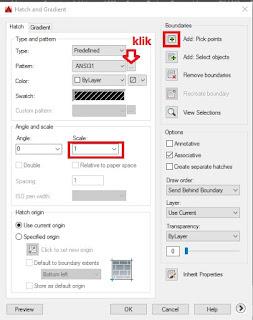 Gambar dialog box hatch and gradient