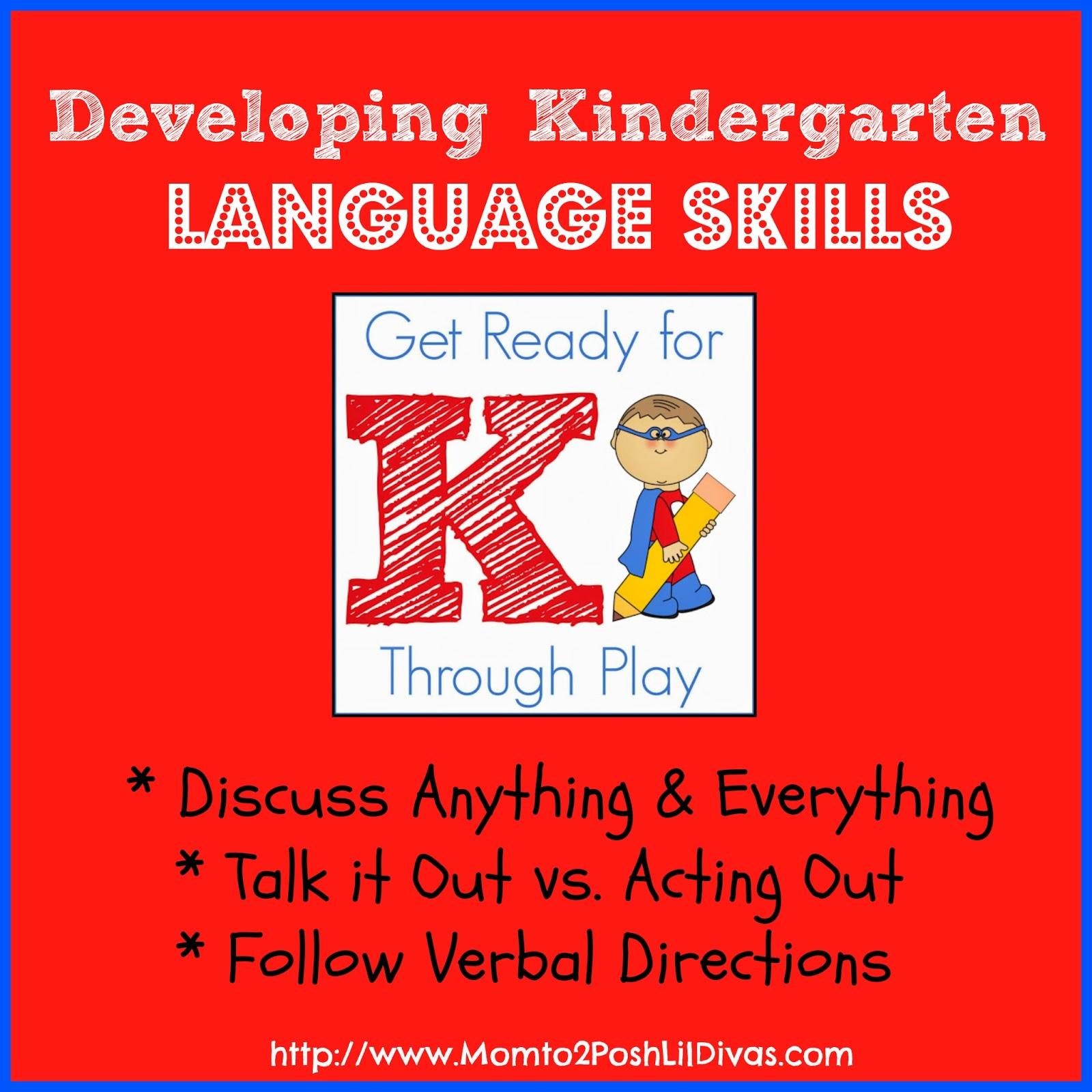 Mom To 2 Posh Lil Divas Developing Kindergarten Language