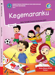 Buku Siswa Tema 2 Kegemaranku Kelas 1-I Kurikulum 2013 Revisi 2017