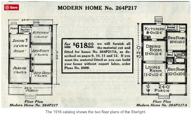 early sears starlight two floor plans