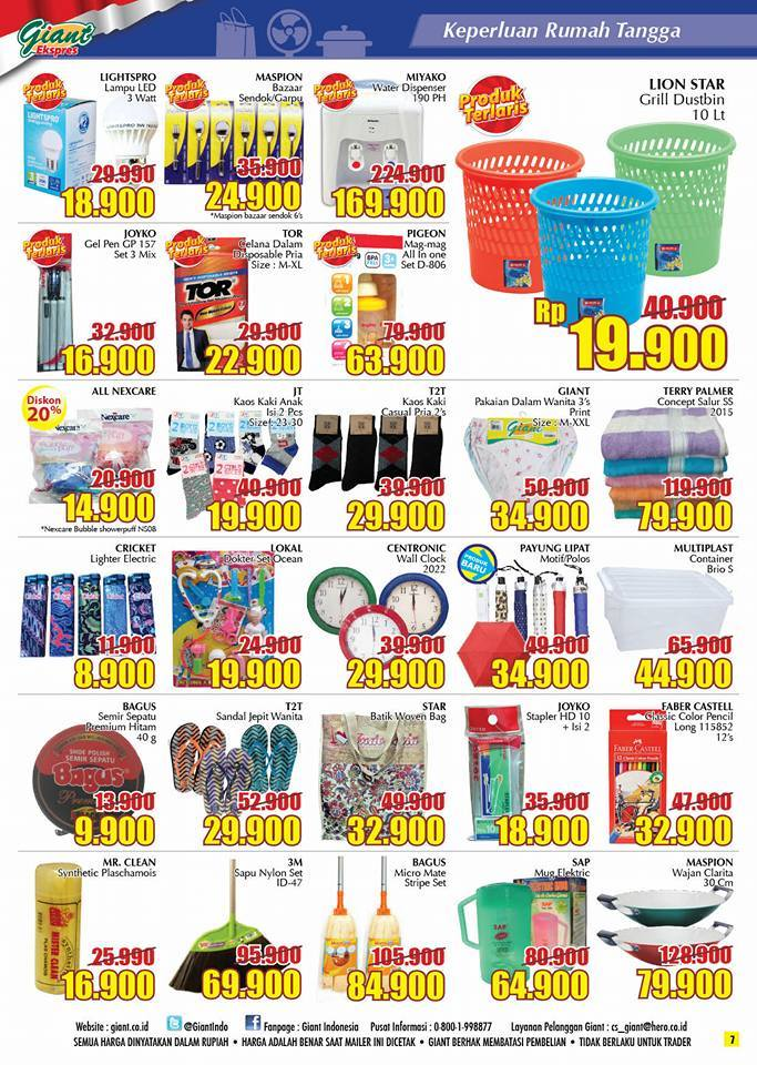 Katalog Harga Promo Giant Ekspres 5 – 11 Januari 2017