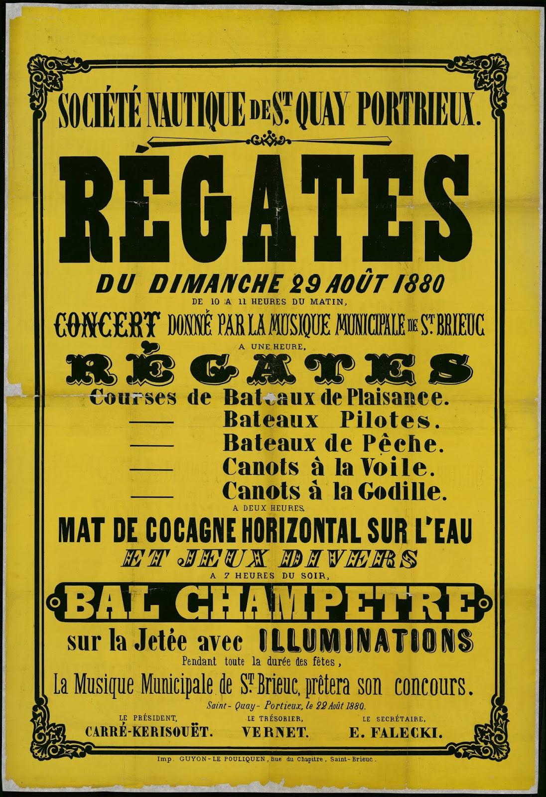 Favori Saint-Quay-Portrieux d'antan: Affiches et cartes publicitaires AV61