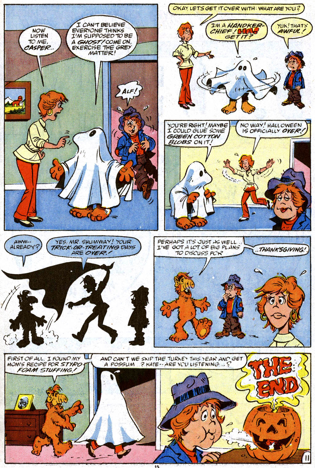 Read online ALF comic -  Issue #11 - 12
