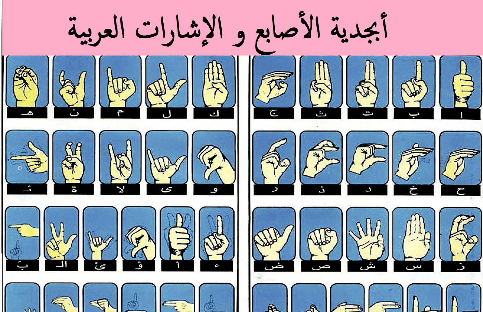 تعلم لغة قاموس لغة الاشارة للصم والبكم