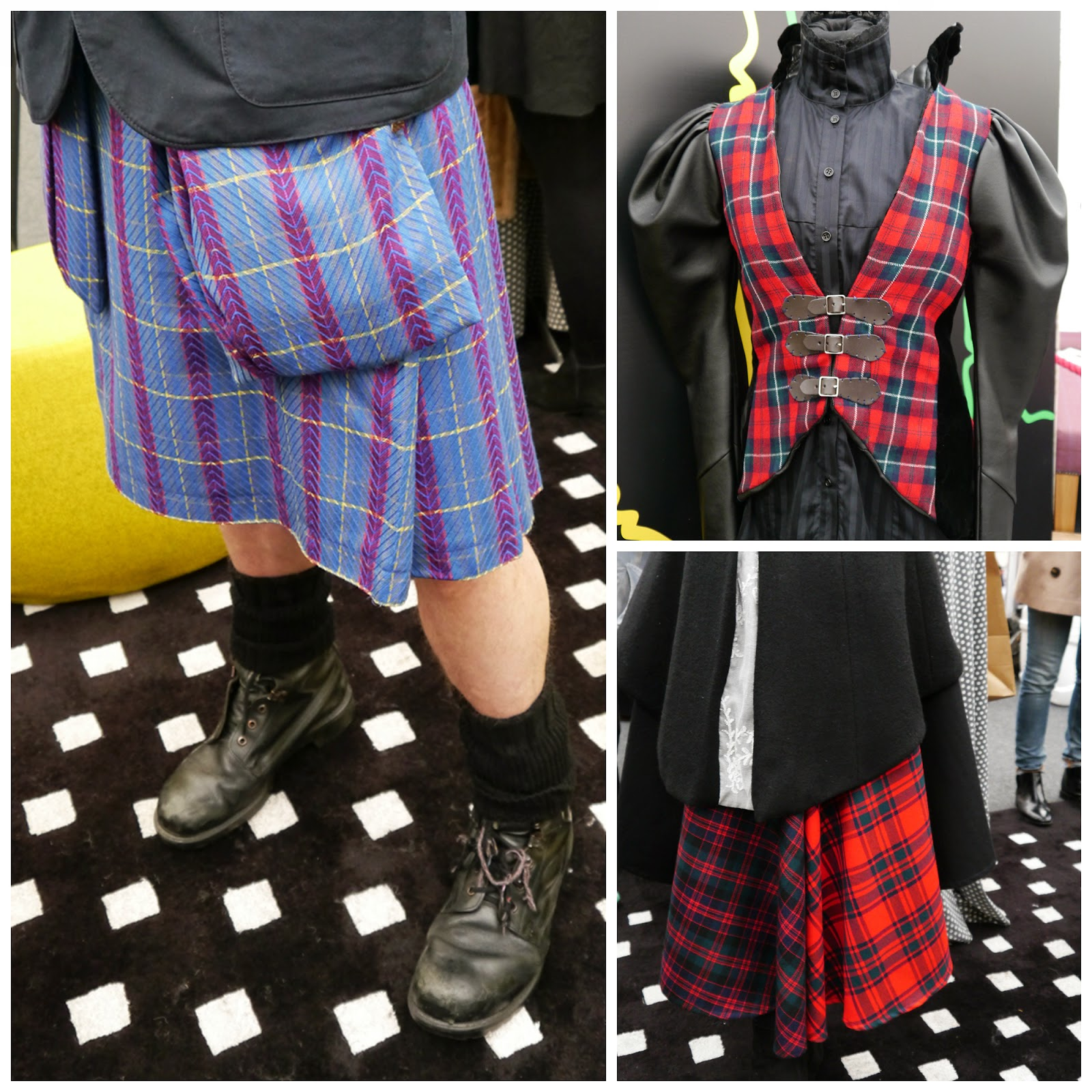 Edinburgh Fashion Week, Scottish Bloggers, #EdFashionWeek, Edinburgh, Scottish Fashion, G&V hotel, Judy R clark, tartan style, tartan at Edinburgh Fashion Week, kilt, kilt coat, tatan coat