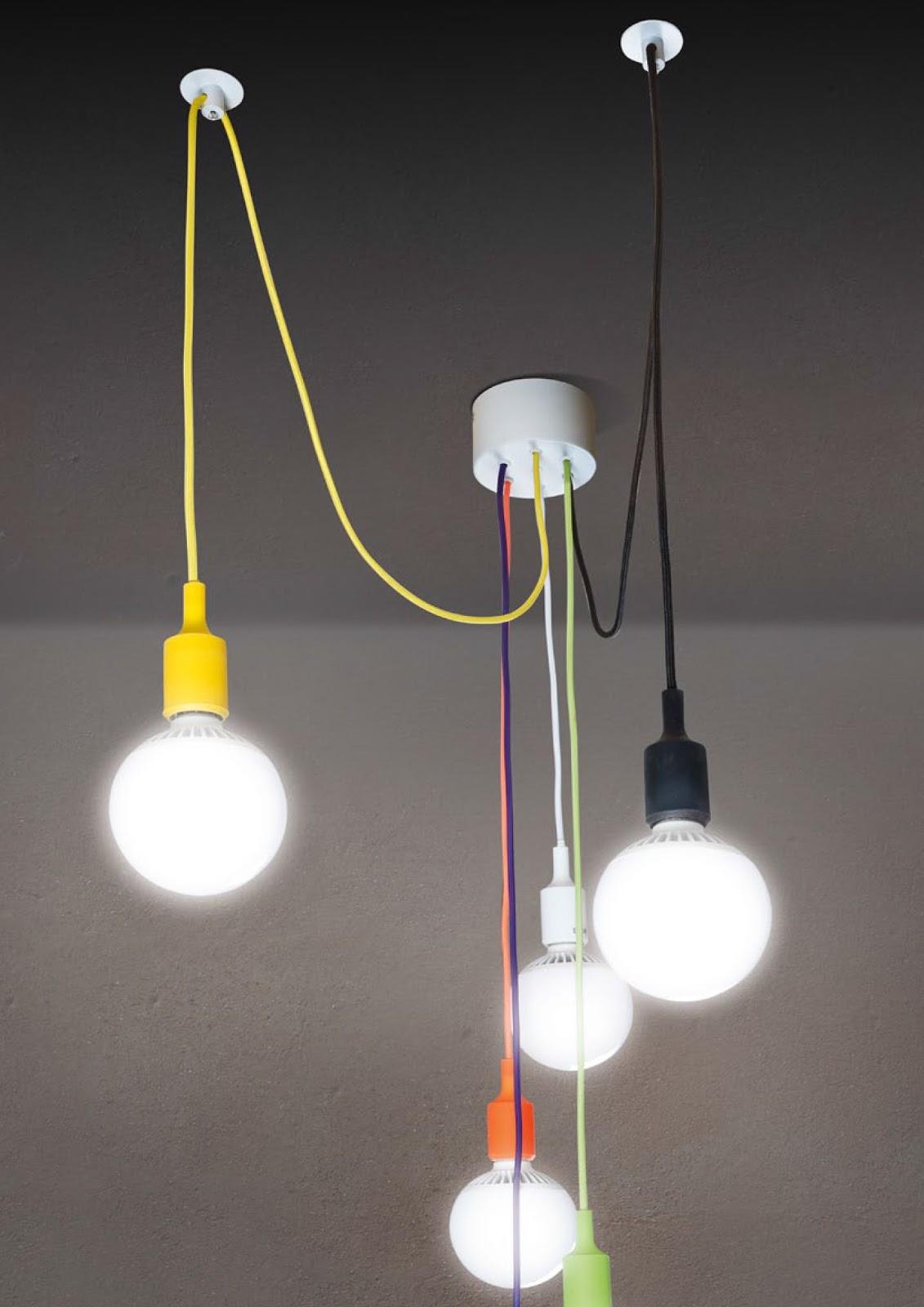 Illuminazione led casa linea fluo novit colorate per - Lampade da tavolo in plexiglass ...