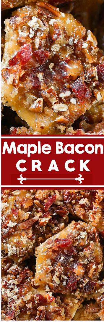 Maple Bacon Crack  #dessert #cark