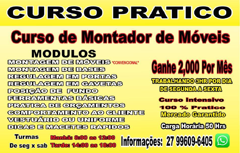 CURSO DE MONTADOR DE MÓVEIS 996096405 de33285f54a30