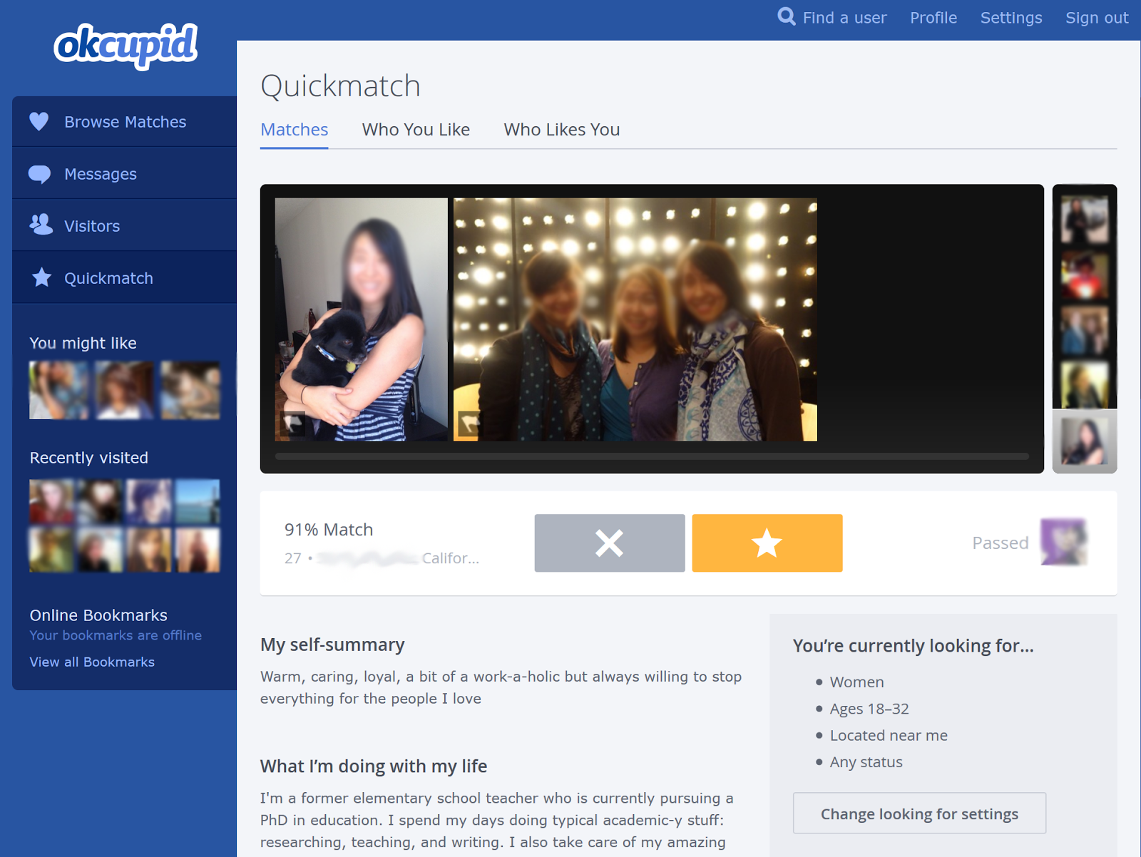 How to use quickmatch okcupid app  How to Use OkCupid  2019