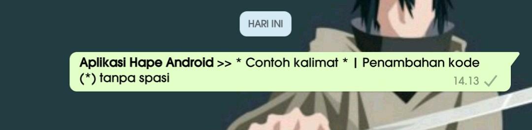 1 Cara membuat variasi tulisan unik di whatsapp