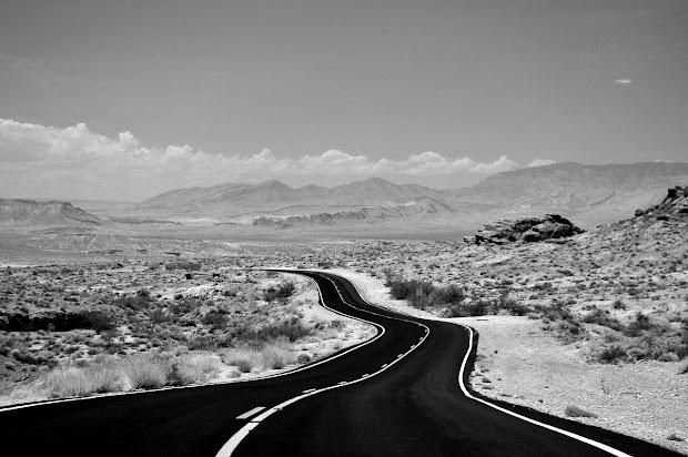 Mountain Landscape Black and White