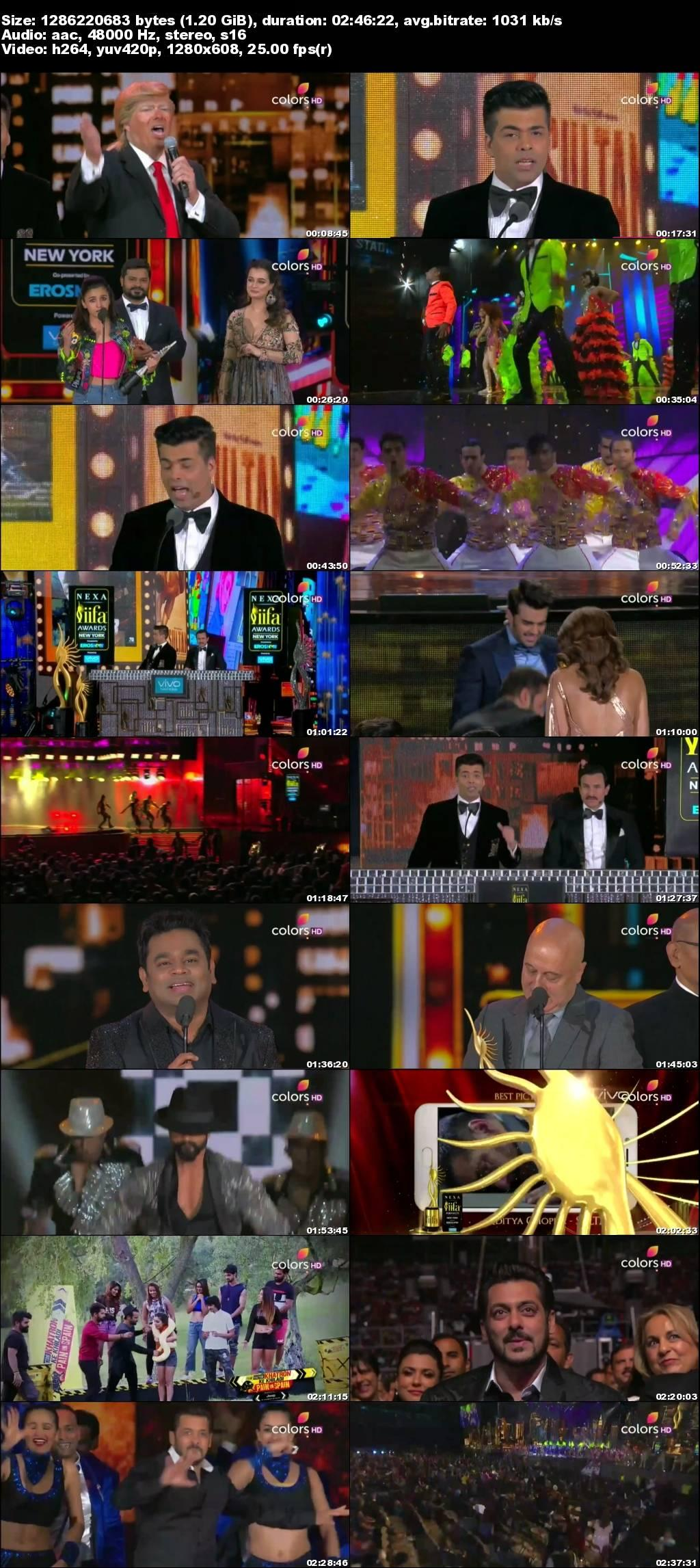 Screenshots Of Hindi Show IIFA Awards 2017 300MB 480P HD