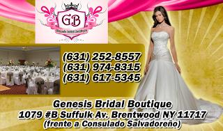 Tarjeta de Presentación Visita Genesis Bridal Boutique Business Card Diseño Gráfico Freelance