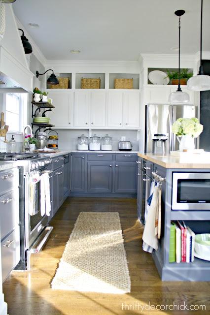 two tone kitchen cabinet renovation