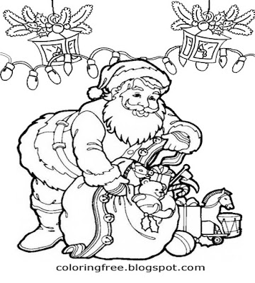 Teens Xmas wallpaper best Christmas scene drawing of Santa Claus activities to print online for free