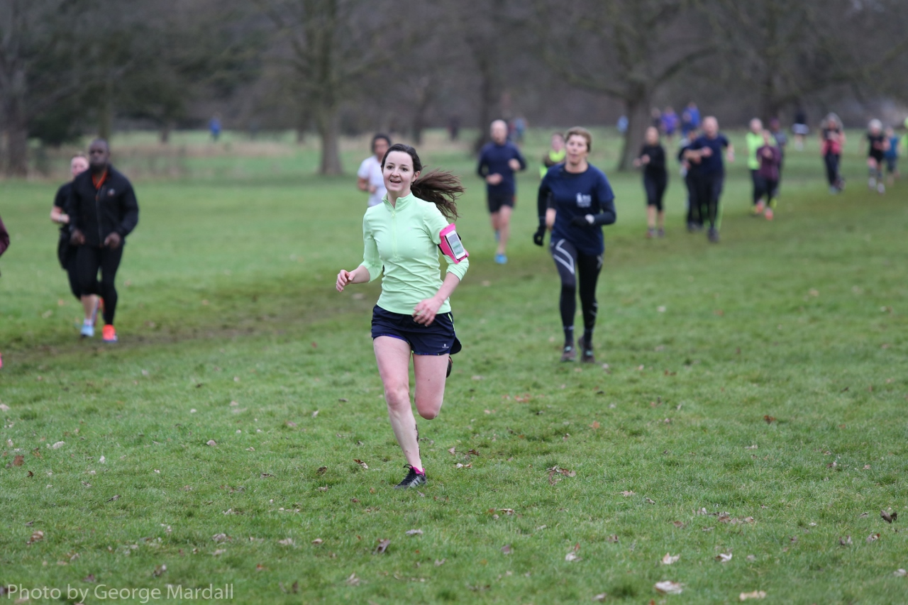 Runner completing Osterley Parkrun
