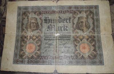100 فرانك المانى 1920 ميلادي