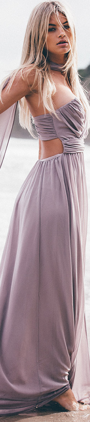 Sabo Skirt Olympia Slate Gown