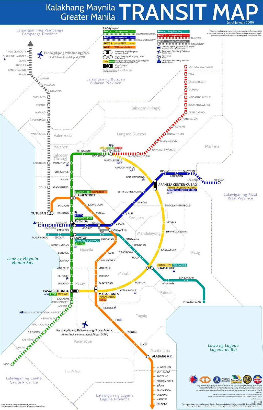 Greater Manila Transit Map A Story of Integration Branding and