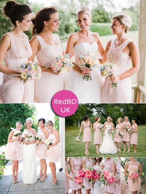 Good ideas to wear again your pink and tea length bridesmaid dresses