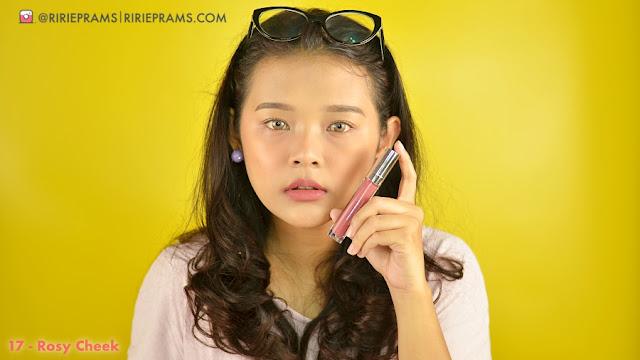Review & Swatch Wardah Exclusive Matte Lip Cream 17 rosy cheek