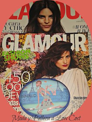 Mini estuche de maquillaje de Pinaud de regalo con la revista Glamour marzo 2016