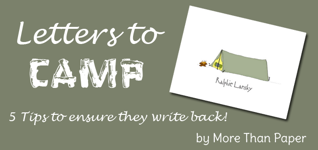More Than Paper Blog: Encouraging Letter Writing from Camp
