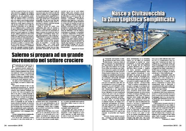 NOVEMBRE 2018 PAG. 24 - Salerno si prepara ad un grande incremento nel settore crociere