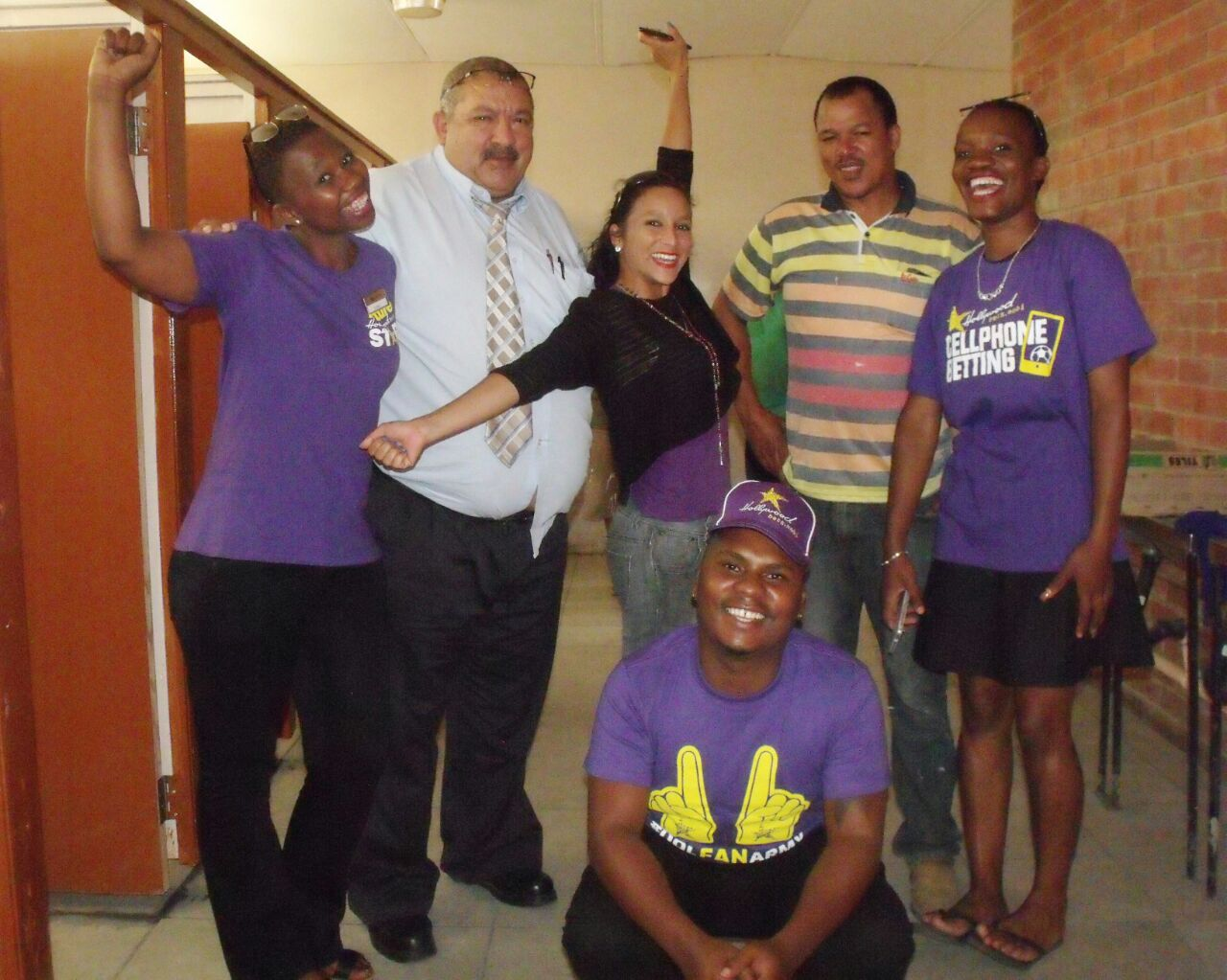 Hollywoodbets King William's town team members helped renovate the bathrooms at Breidbach Primary School