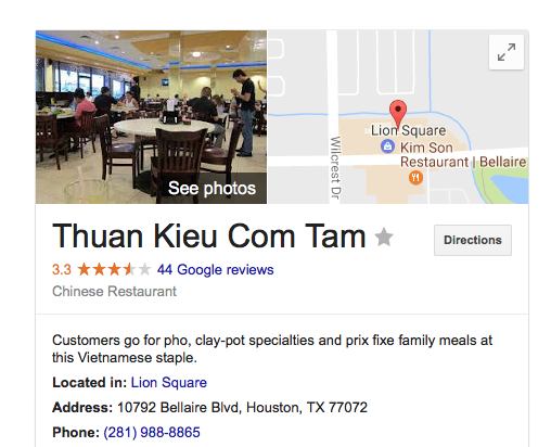 Houston Food Explorers Vietnamese Thuan Kieu Com Tam A