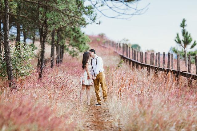 カップルのキス(恋に落ちるための36の魔法の質問)