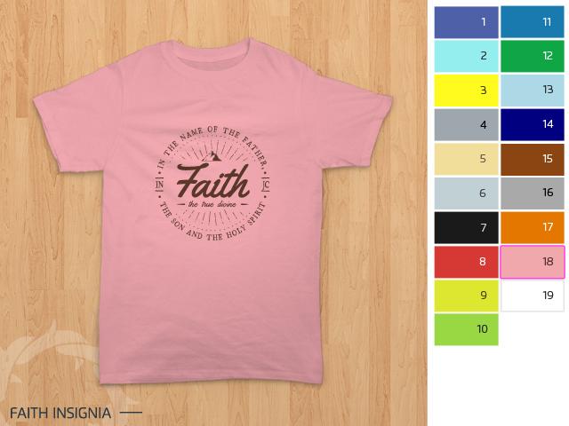 pratinjau desain kaos dicetak di kain merah muda / punk