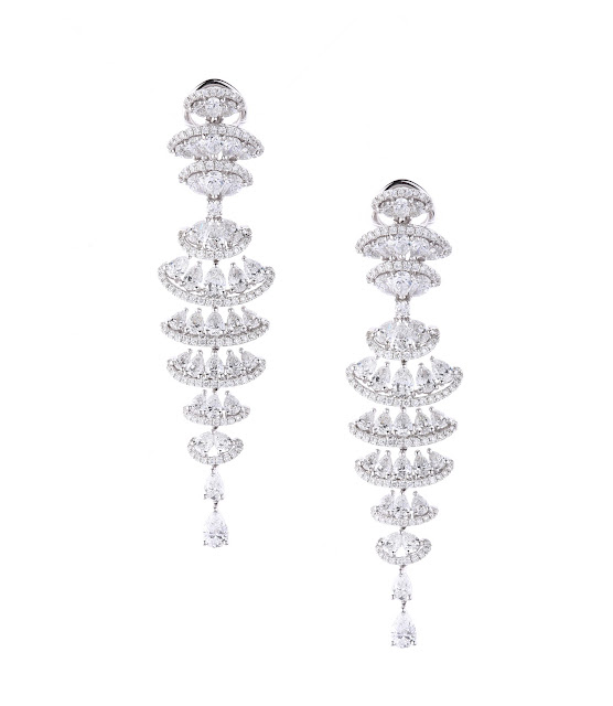 Entice Wedding Orchid 2015_ Diamond watefall earrings
