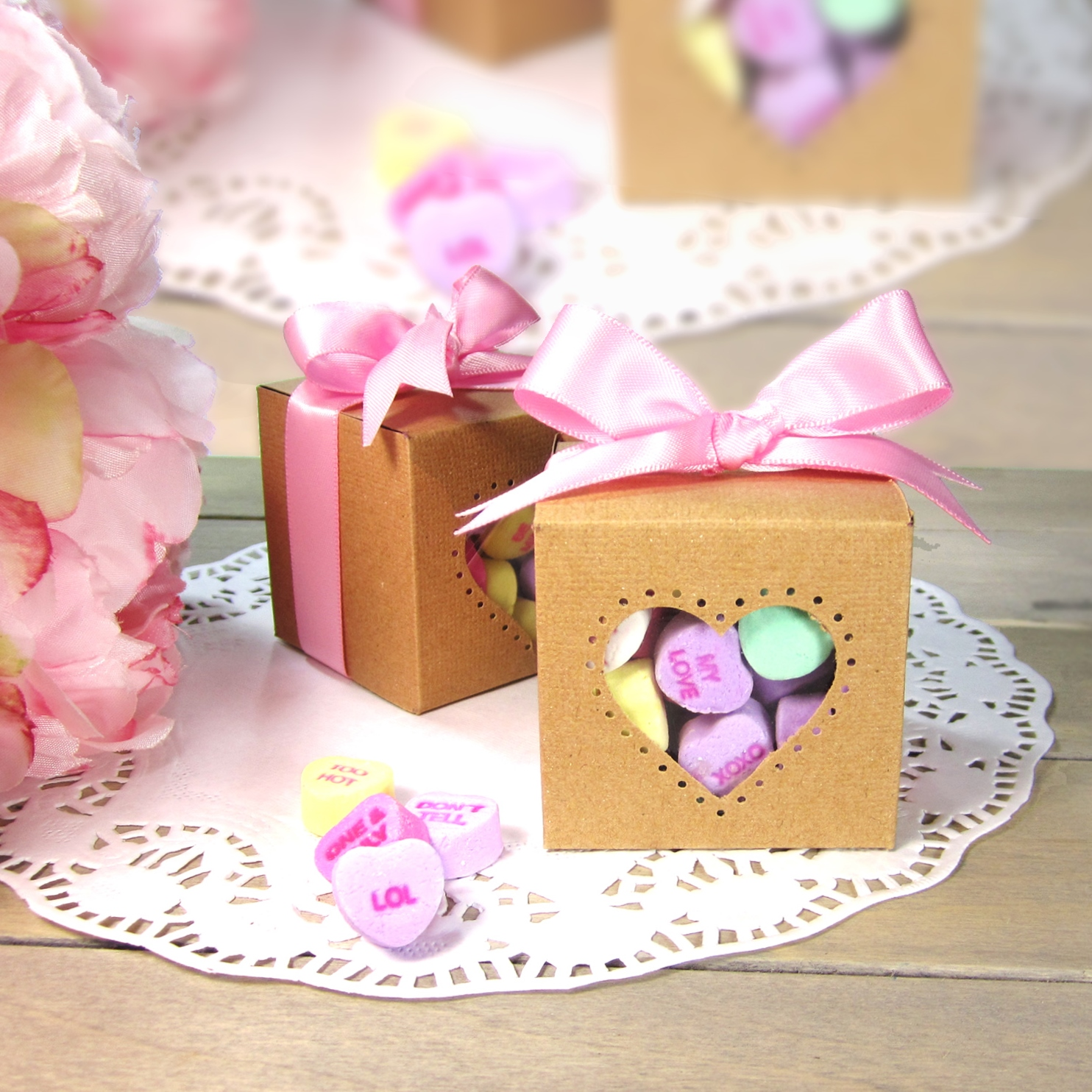 365 Designs Candy Hearts Favor Box For Bridal Baby Showers Or Any