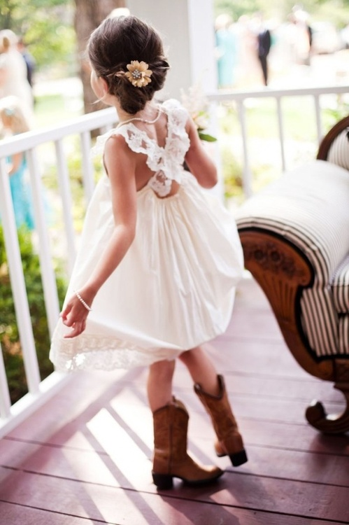 12d07d7724611 Wedding Talk: Flower Girl Ideas Week: Flower Girls in Boots!