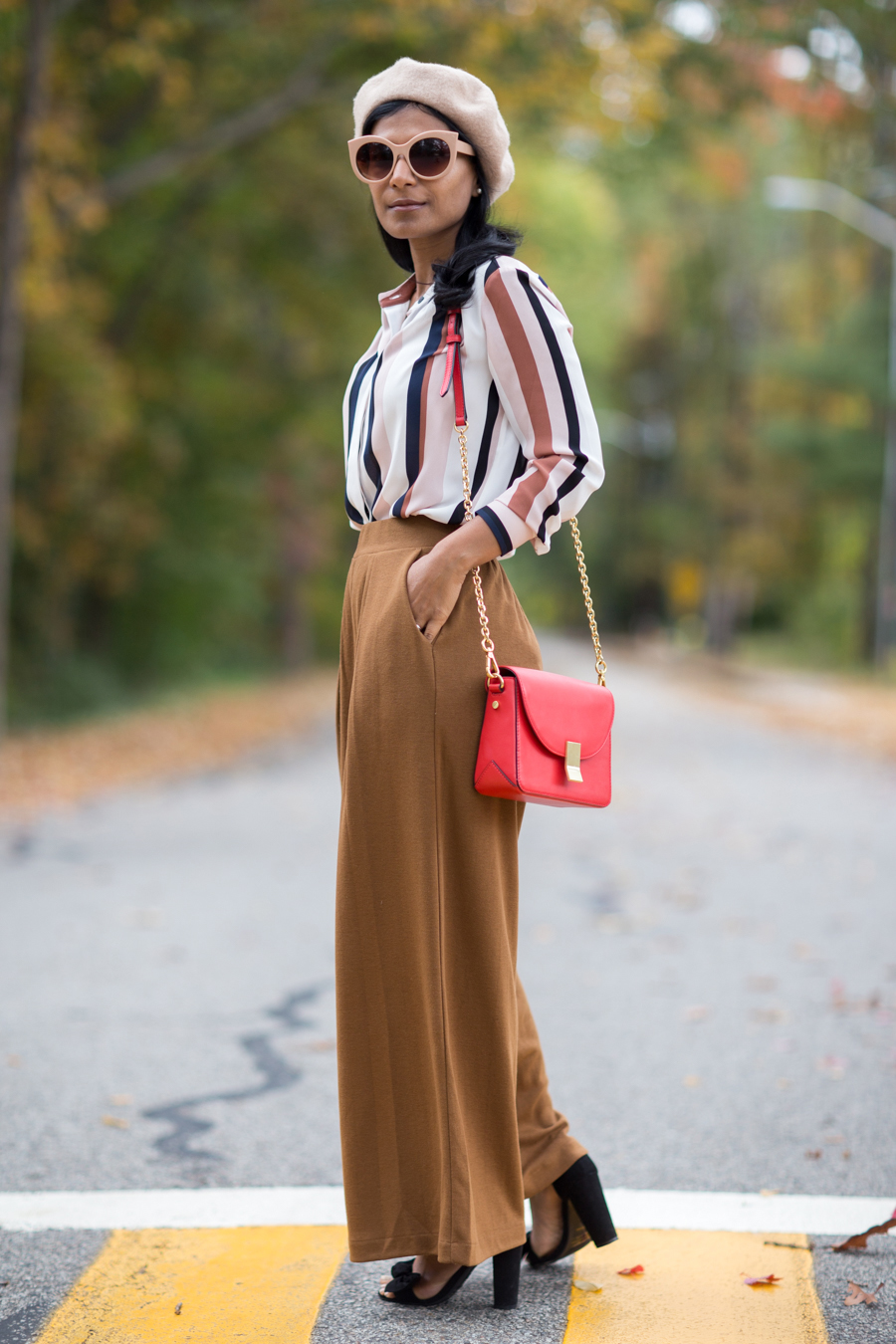 wide pants, wide leg pants, comfortable style, work to weekend, uniqlo, H&M, fall fashion, fall trends, petite fashion, petite blogg