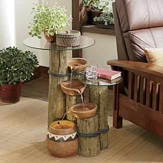 Inspira o e divers o m veis feitos com reciclagem - Fuentes de agua decorativas para casa ...