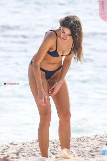 Celine Farach in amazing Short tiny Blue Bikini Lovely Ass Huge Boobs Dec 2017