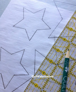 crisp stars copied by ruler