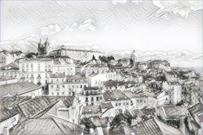 Lisboa - Miradouro das Portas do Sol_Hughes