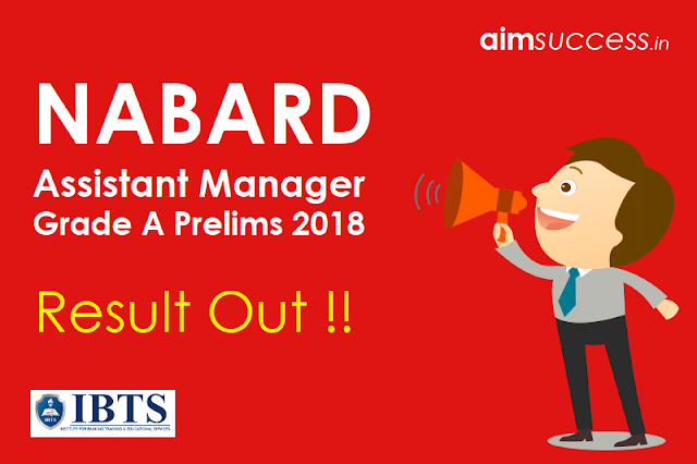 NABARD Grade A Prelims 2018 Result Out: Check NABARD Assistant Manager Result!