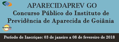 concurso público APARECIDAPREV 2018