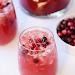 SPARKLING CRANBERRY APPLE CIDER PUNCH #cocktail #drink