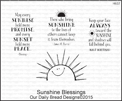 Our Daily Bread Designs - Sunshine Blessings