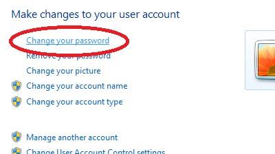 How To Change My Windows Password