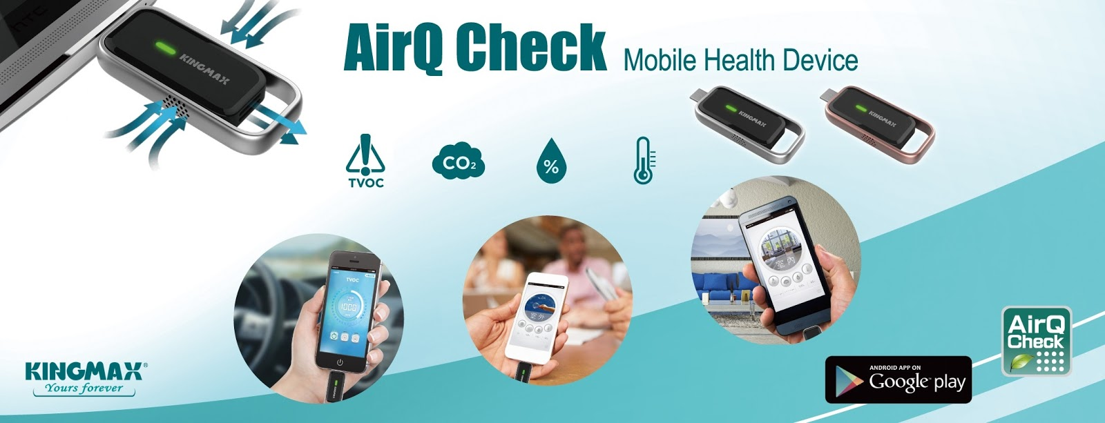 KINGMAX AirQ Check Air Quality Mobile Health Device