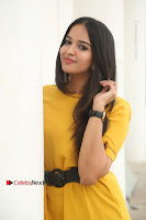Actress Poojitha Stills in Yellow Short Dress at Darshakudu Movie Teaser Launch .COM 0088.JPG