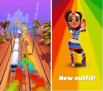 Tampilan Game Subway Surfer