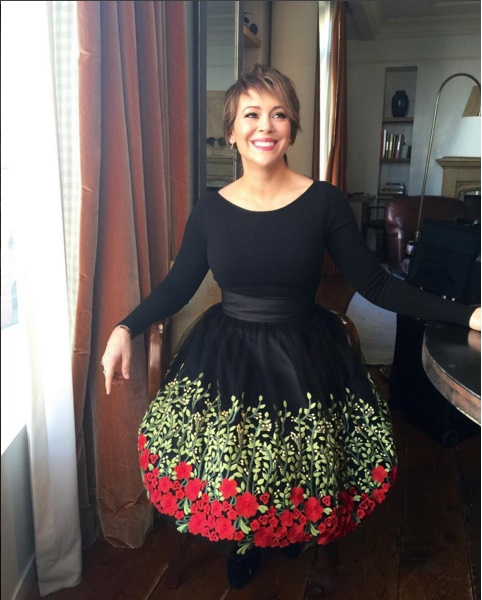Alyssa Milano January 2016